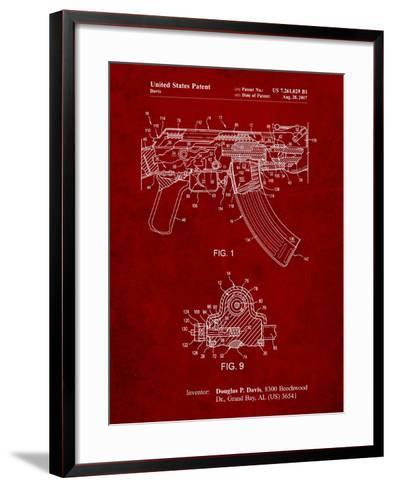 Ak-47 Bolt Locking Patent Print-Cole Borders-Framed Art Print