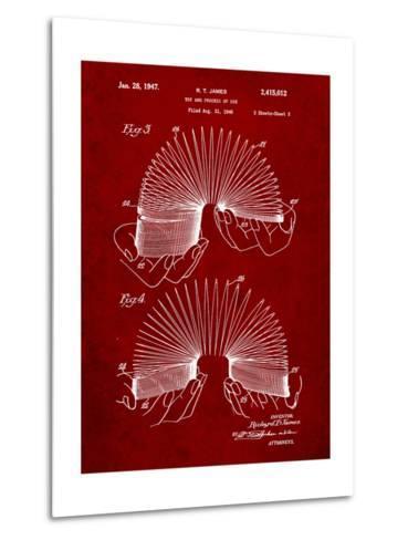 Slinky Toy Patent-Cole Borders-Metal Print