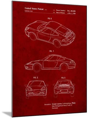 199 Porsche 911 Patent-Cole Borders-Mounted Art Print