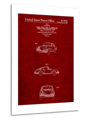 1964 Porsche 911 Patent-Cole Borders-Metal Print