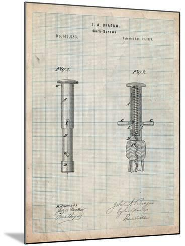 Corkscrew 1874 Patent-Cole Borders-Mounted Art Print