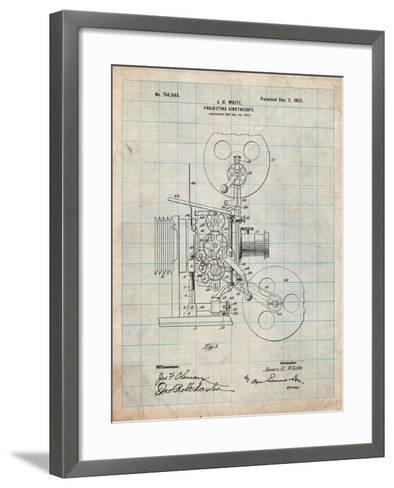 Projecting Kinetoscope Patent-Cole Borders-Framed Art Print