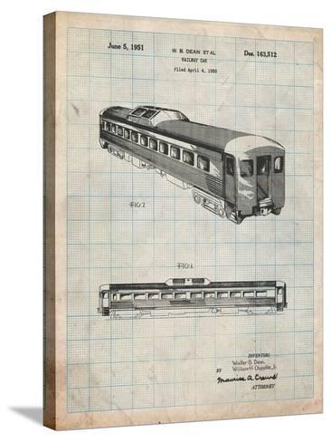 Railway Passenger Car Patent-Cole Borders-Stretched Canvas Print