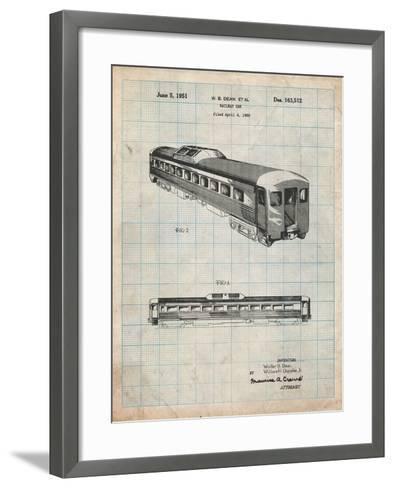 Railway Passenger Car Patent-Cole Borders-Framed Art Print