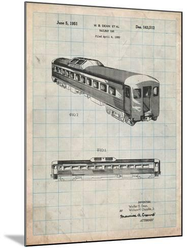 Railway Passenger Car Patent-Cole Borders-Mounted Art Print