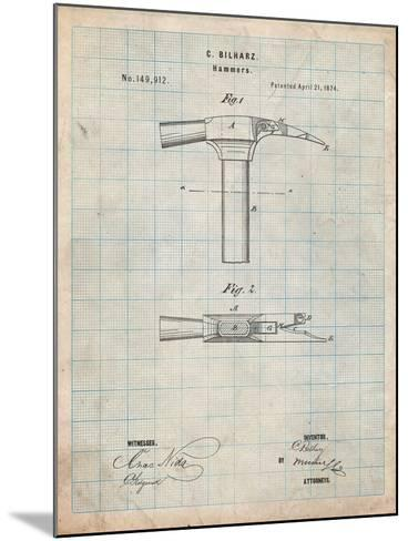 Claw Hammer 1874 Patent-Cole Borders-Mounted Art Print