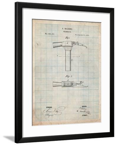 Claw Hammer 1874 Patent-Cole Borders-Framed Art Print
