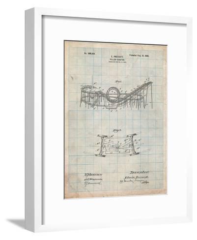 Coney Island Loop the Loop Roller Coaster Patent-Cole Borders-Framed Art Print