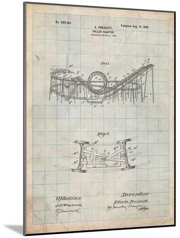 Coney Island Loop the Loop Roller Coaster Patent-Cole Borders-Mounted Art Print