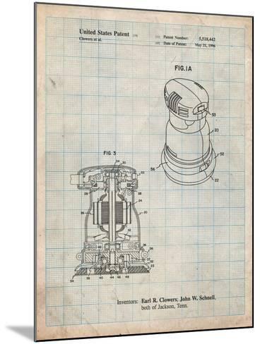 Porter Cable Palm Grip Sander Patent-Cole Borders-Mounted Art Print