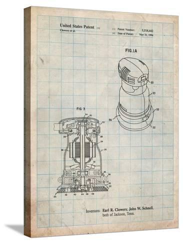 Porter Cable Palm Grip Sander Patent-Cole Borders-Stretched Canvas Print