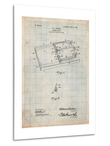 Rat Trap Patent Print-Cole Borders-Metal Print