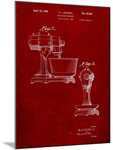 Kitchenaid Mixer Patent-Cole Borders-Mounted Art Print