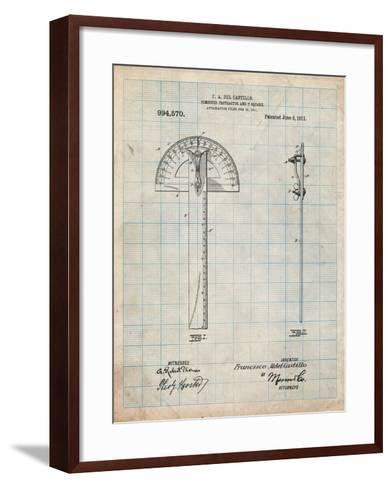 Protractor T-Square Patent-Cole Borders-Framed Art Print