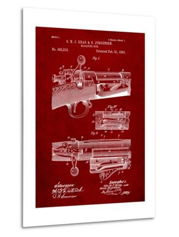 Krag Jãrgensen Repeating Rifle Patent Print-Cole Borders-Metal Print