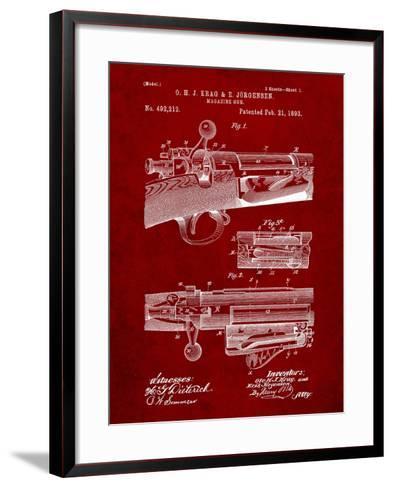 Krag Jãrgensen Repeating Rifle Patent Print-Cole Borders-Framed Art Print