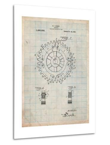 Cogwheel 1922 Patent-Cole Borders-Metal Print