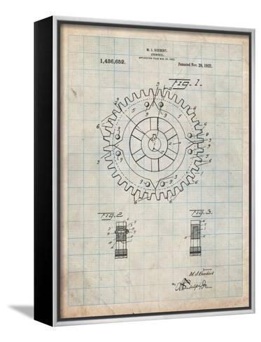 Cogwheel 1922 Patent-Cole Borders-Framed Canvas Print
