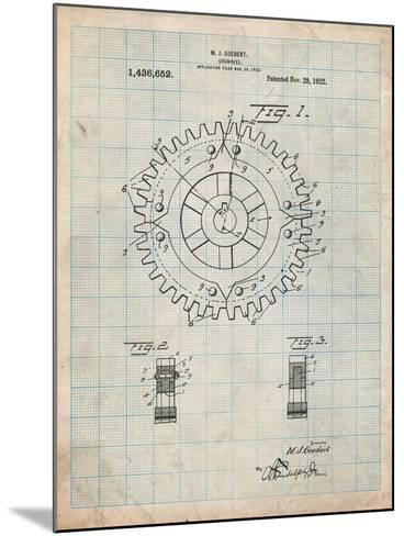 Cogwheel 1922 Patent-Cole Borders-Mounted Art Print