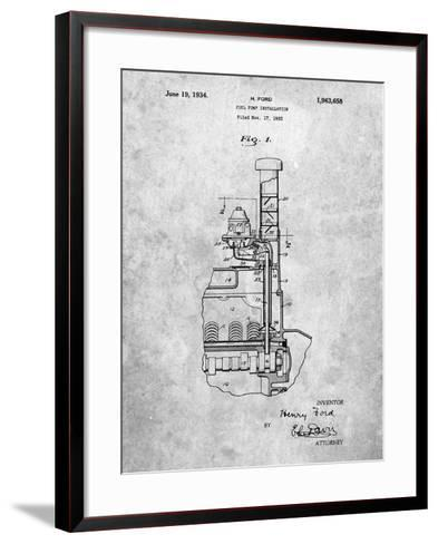 Ford Fuel Pump 1933 Patent-Cole Borders-Framed Art Print