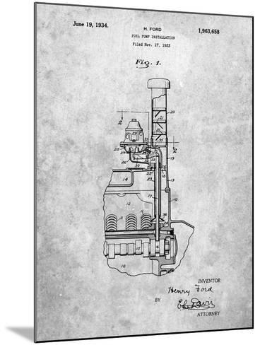 Ford Fuel Pump 1933 Patent-Cole Borders-Mounted Art Print