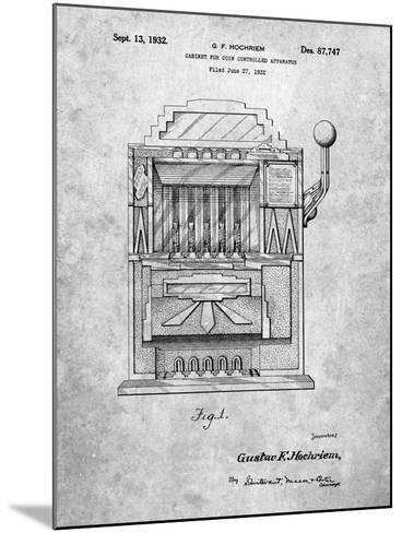 Vintage Slot Machine 1932 Patent-Cole Borders-Mounted Art Print