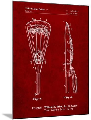 Lacrosse Stick 1936 Patent-Cole Borders-Mounted Art Print