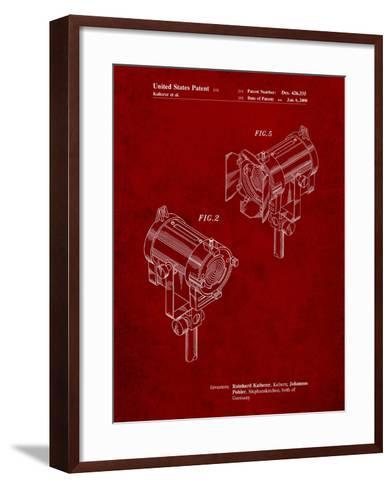 Stage Lights Patent-Cole Borders-Framed Art Print