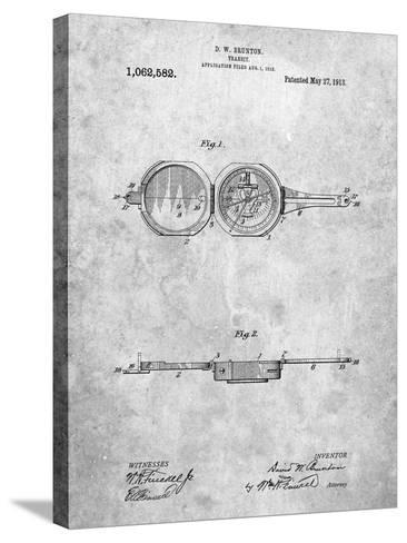 Pocket Transit Compass 1919 Patent-Cole Borders-Stretched Canvas Print