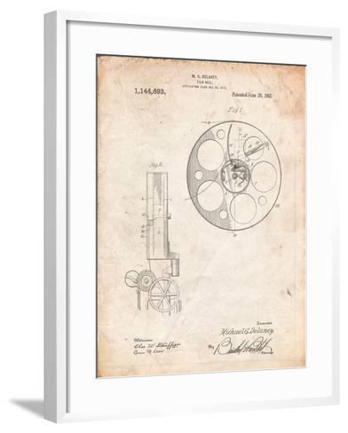 Film Reel 1915 Patent-Cole Borders-Framed Art Print