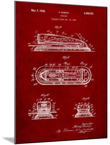 Stapler Patent-Cole Borders-Mounted Art Print
