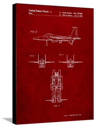Starscream Transformer Patent-Cole Borders-Stretched Canvas Print