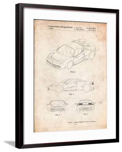 Ferrari 2012 Sp12 Patent-Cole Borders-Framed Art Print
