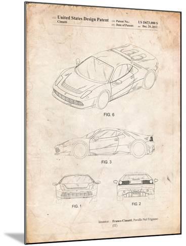 Ferrari 2012 Sp12 Patent-Cole Borders-Mounted Art Print