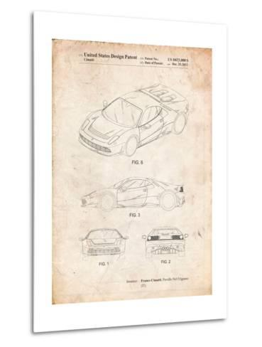 Ferrari 2012 Sp12 Patent-Cole Borders-Metal Print