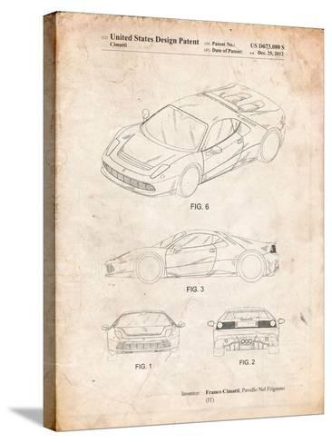Ferrari 2012 Sp12 Patent-Cole Borders-Stretched Canvas Print