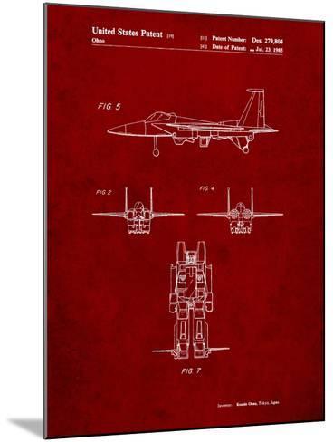 Starscream Transformer Patent-Cole Borders-Mounted Art Print