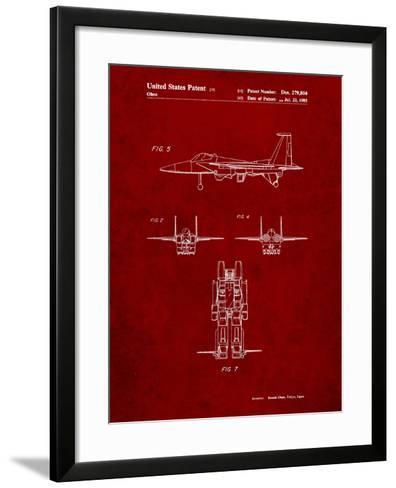 Starscream Transformer Patent-Cole Borders-Framed Art Print