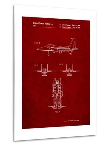 Starscream Transformer Patent-Cole Borders-Metal Print