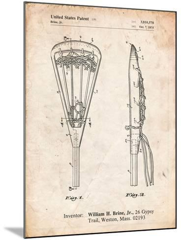 Lacrosse Stick 1936 Patent-Cole Borders-Mounted Art Print