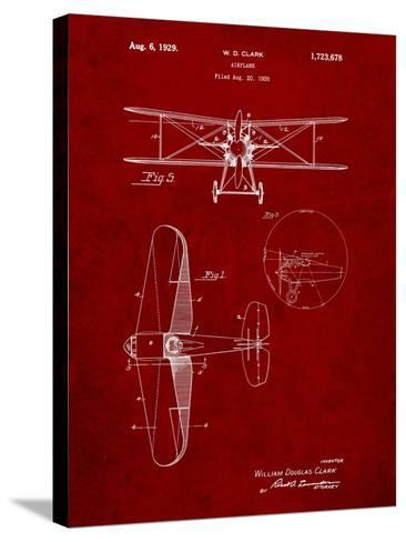 Staggered Biplane Aircraft Patent-Cole Borders-Stretched Canvas Print
