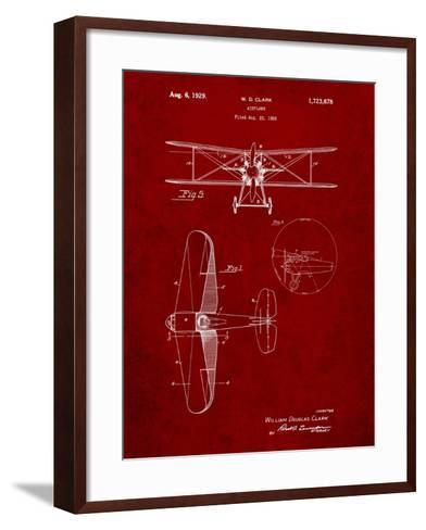 Staggered Biplane Aircraft Patent-Cole Borders-Framed Art Print