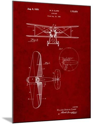 Staggered Biplane Aircraft Patent-Cole Borders-Mounted Art Print