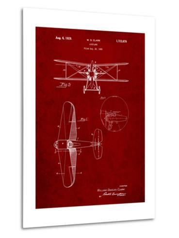 Staggered Biplane Aircraft Patent-Cole Borders-Metal Print