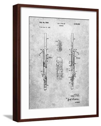 Bassoon Patent-Cole Borders-Framed Art Print