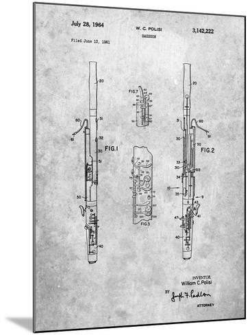 Bassoon Patent-Cole Borders-Mounted Art Print