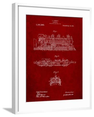 Steam Locomotive 1915 Patent-Cole Borders-Framed Art Print