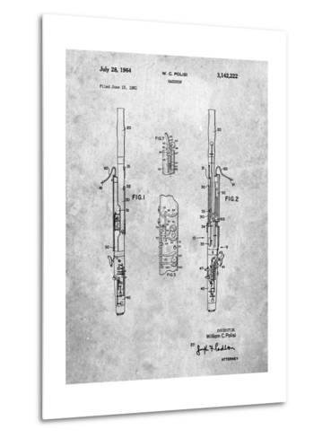 Bassoon Patent-Cole Borders-Metal Print