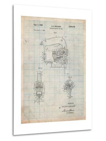 Black and Decker Jigsaw Patent-Cole Borders-Metal Print