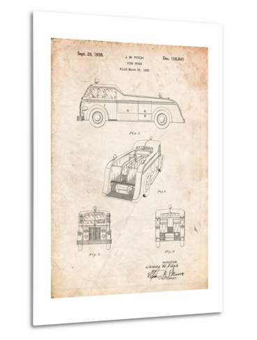 Firetruck 1939 Patent-Cole Borders-Metal Print